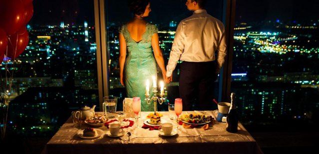 ужин на двоих на крыше