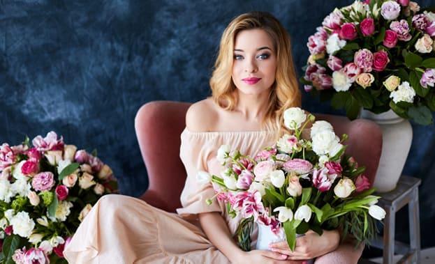 Фото с цветами на 14 февраля