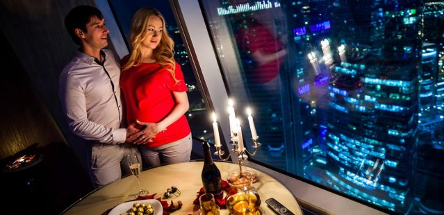 романтический ужин в москва сити
