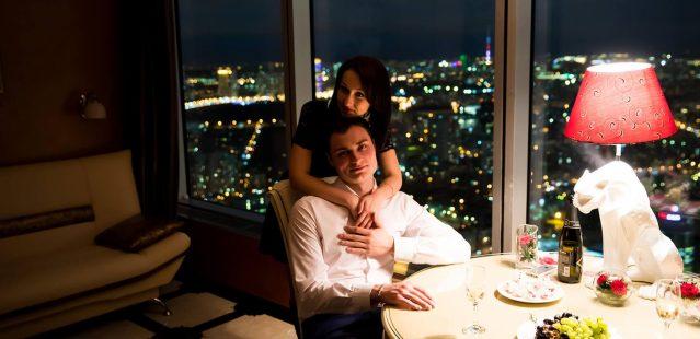 романтический ужин на крыше москва сити