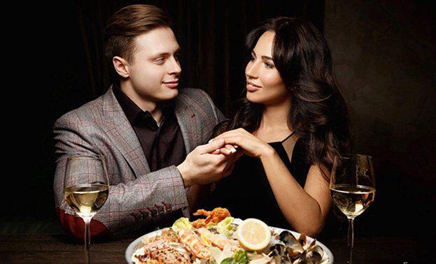 романтический ужин при свечах для любимой