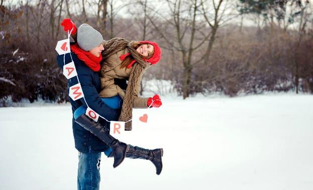 Фото свидания зимой