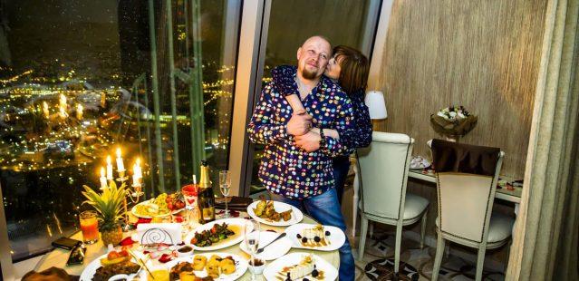 свидание на 55 этаже Москва-Сити