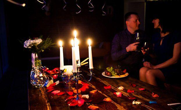 ужин со свечами