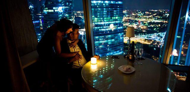 романтический вечер в Москва-Сити