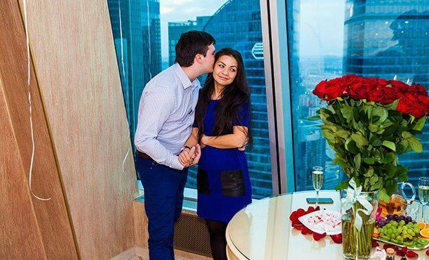 заказать романтический вечер в гостинице в Москве