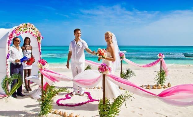 Фото свадьбы на пляже Доминиканы