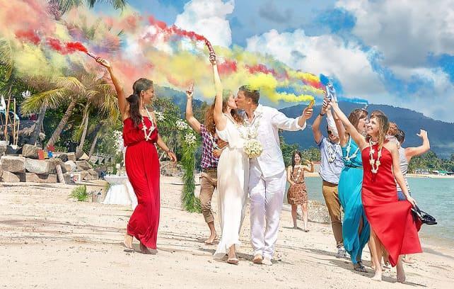 Фото шоу на свадьбе в Доминикане