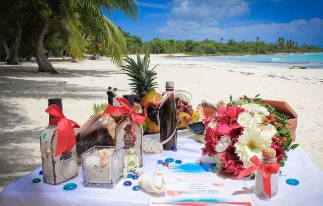 Фото подарков на свадьбе в Доминикане