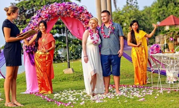 Фото свадебной церемонии в Таиланде