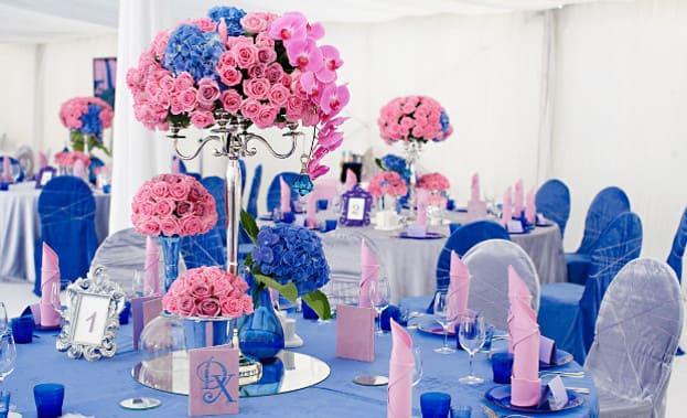 Фото цветов на свадебном столе