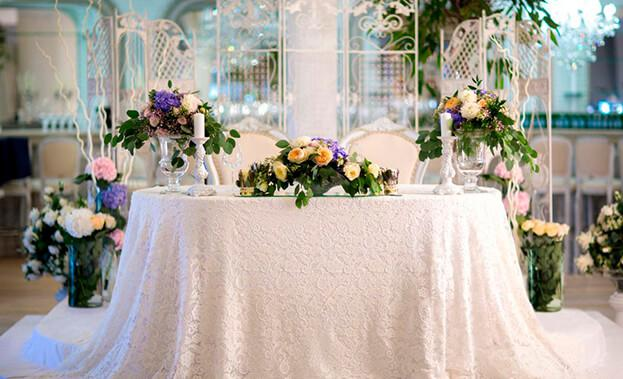 Фото декора стола на свадьбу