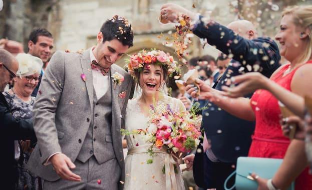 Фото лепестков на свадьбе