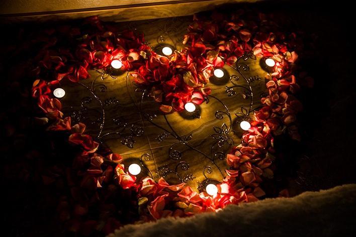 сердце из свечей
