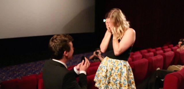 выйти замуж в кинотеатре