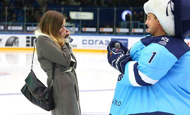 предложение на хоккейном матче