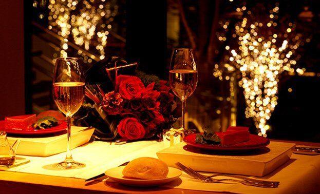 романтический ужин для жены