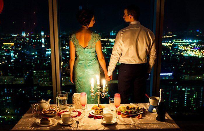 вкусный романтический ужин для любимого