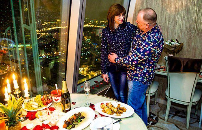 романтический ужин для мужчины