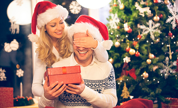 Фото доставки подарка на Новый год