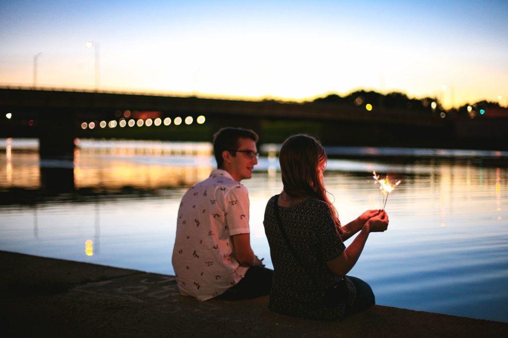 вечерняя романтическая прогулка