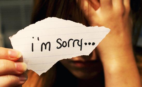 извинения перед парнем